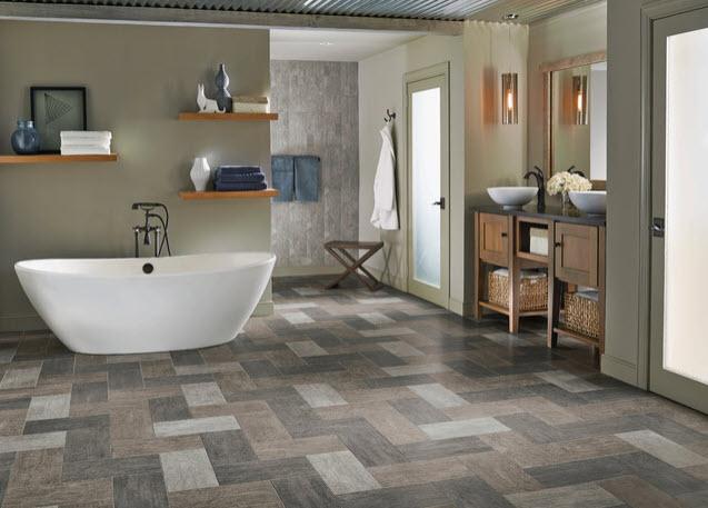 The Best Modern Bathroom Flooring, Is Vinyl Plank Flooring Suitable For Bathrooms